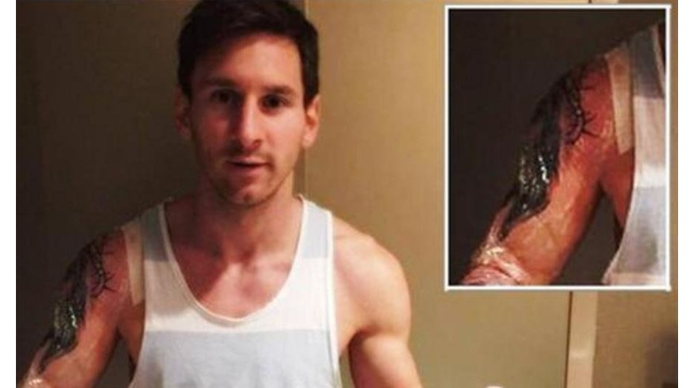 Messi se hizo un nuevo tatuaje y lo mostró sin querer - Mendoza Post