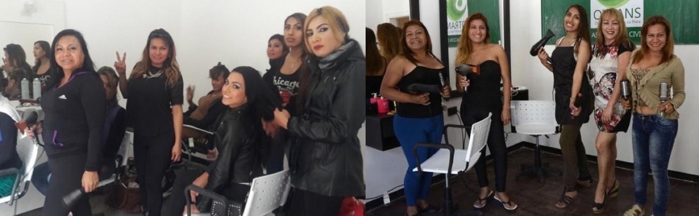 Diez chicas trans dejaron la prostituci n y se pusieron un for Abrir un salon de belleza