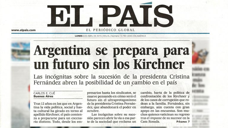 Si gana un peronista cfk desaparecer seg n el pa s de for Ultimas noticias de espectaculos internacionales