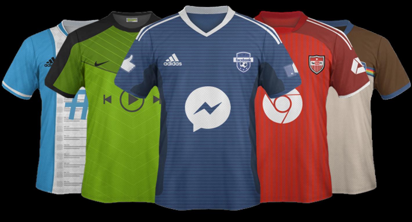 Qué pasaría si las redes sociales fuesen camisetas de fútbol