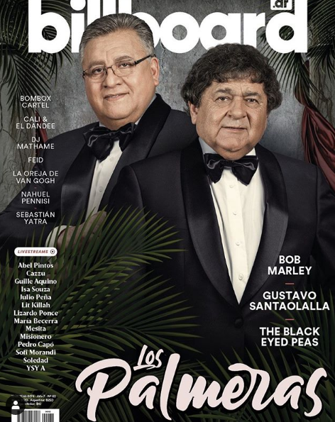 Los Palmeras en la tapa de la revista Billboard — Notable