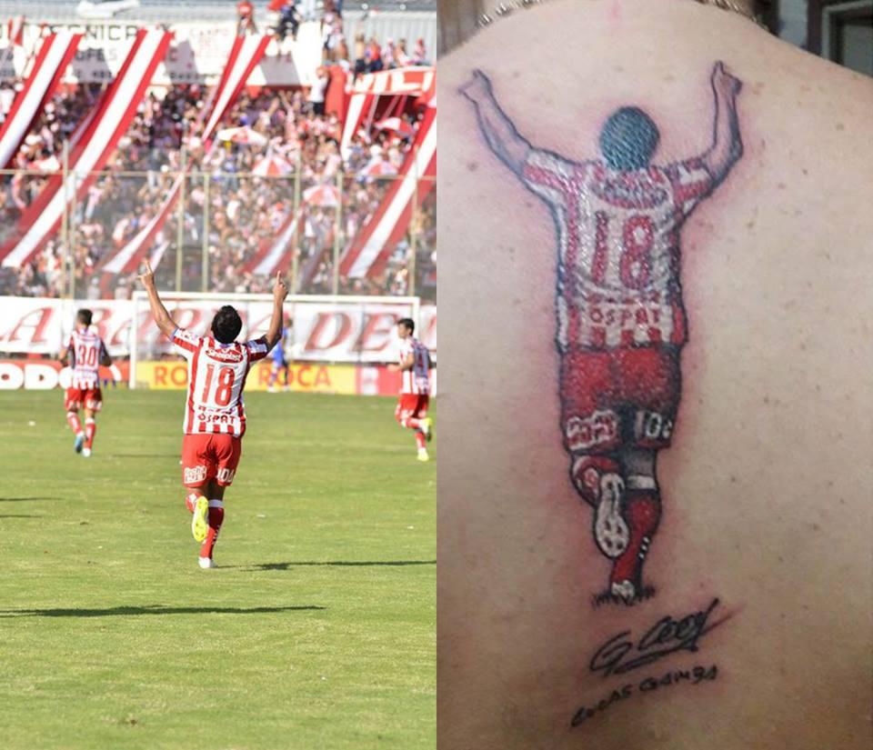 Un Hincha Se Tatuó A Un Futbolista Mendocino En Toda La Espalda