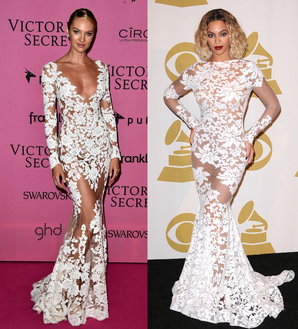 Qué bochorno! Estas famosas usaron sin querer el mismo vestido ...