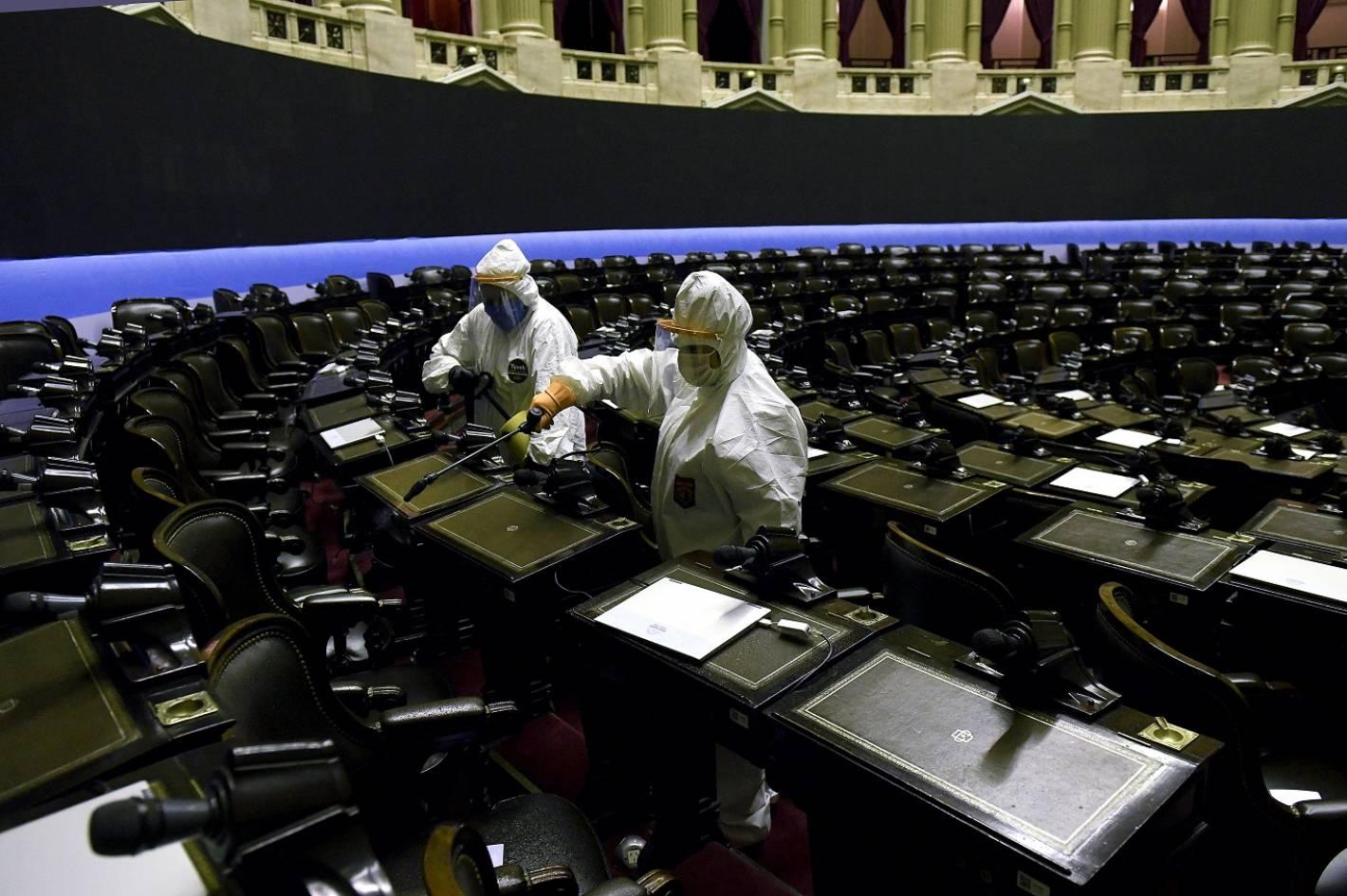 Desinfectan el Congreso y junto a Ramón hay 9 diputados observados ...